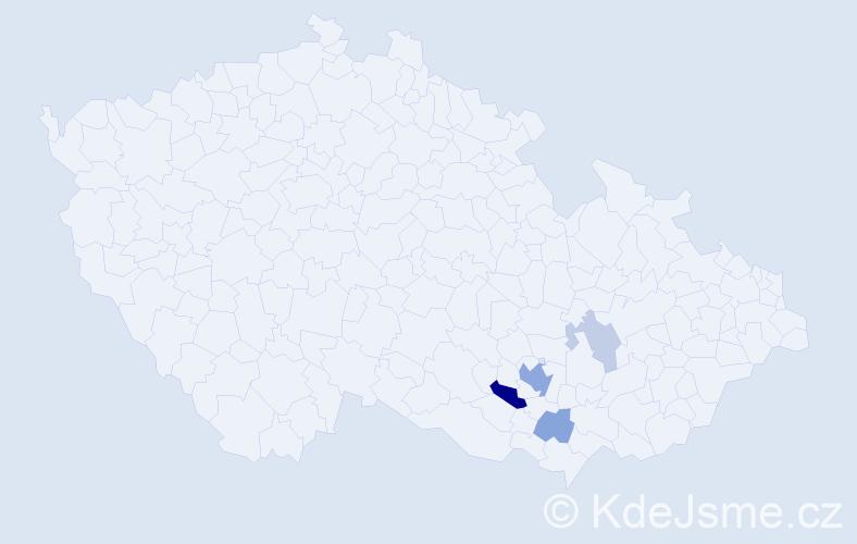 Příjmení: 'Fischmeisterová', počet výskytů 11 v celé ČR