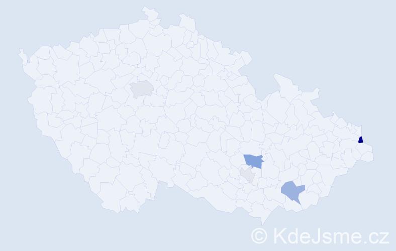 Příjmení: 'Klimosz', počet výskytů 12 v celé ČR