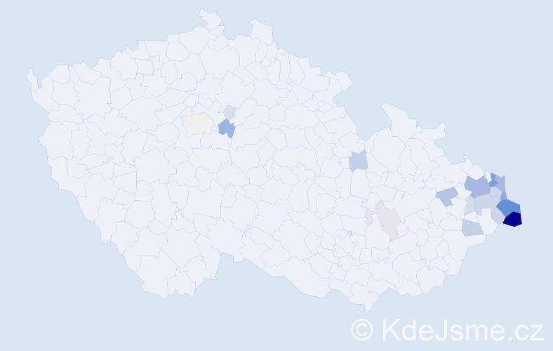Příjmení: 'Grocholová', počet výskytů 128 v celé ČR