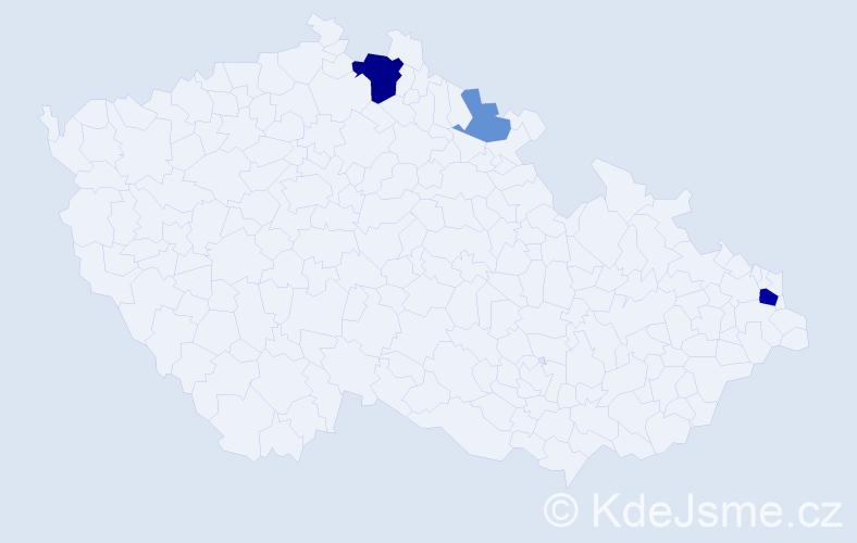 Příjmení: 'Halabuk', počet výskytů 8 v celé ČR