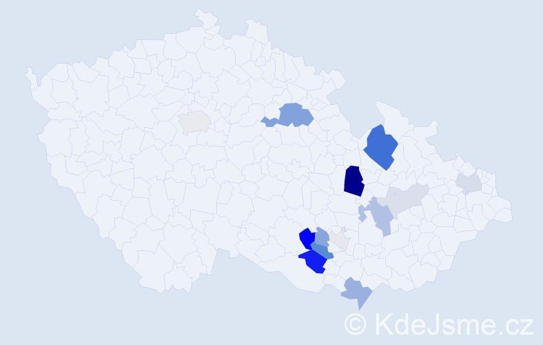 Příjmení: 'Drtílek', počet výskytů 35 v celé ČR