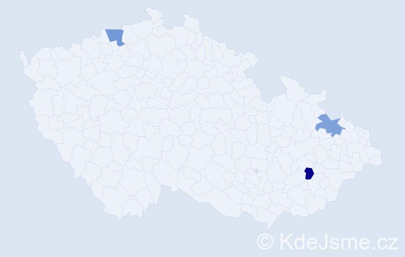 Příjmení: 'Hogl', počet výskytů 10 v celé ČR