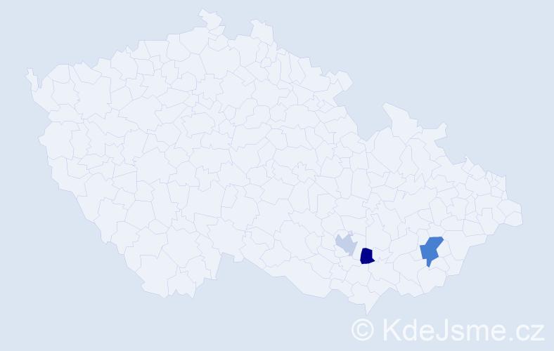Příjmení: 'Machančíková', počet výskytů 4 v celé ČR