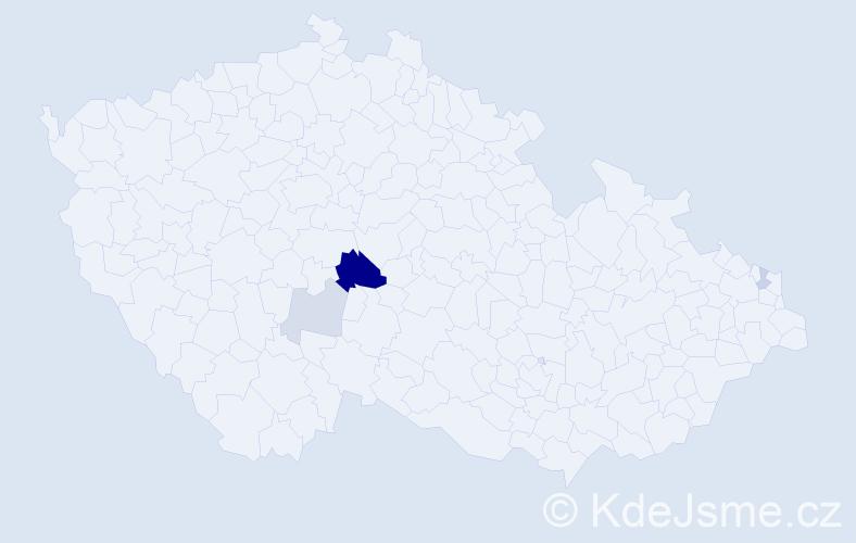 Příjmení: 'Brejdová', počet výskytů 9 v celé ČR
