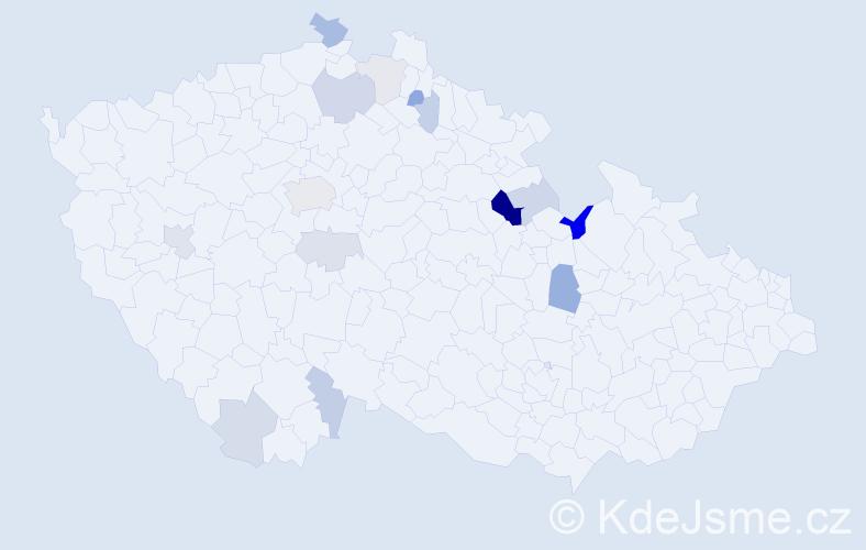 Příjmení: 'Leimer', počet výskytů 33 v celé ČR