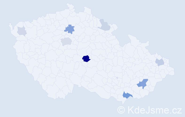 Příjmení: 'Geher', počet výskytů 29 v celé ČR