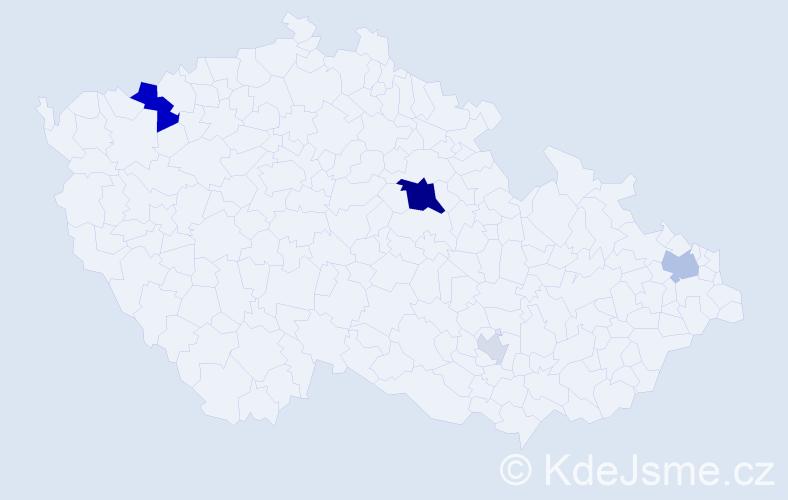 Příjmení: 'Grohol', počet výskytů 13 v celé ČR