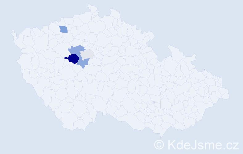 Příjmení: 'Bartolen', počet výskytů 7 v celé ČR