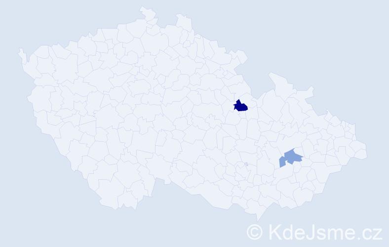 Příjmení: 'Lehnfeld', počet výskytů 5 v celé ČR