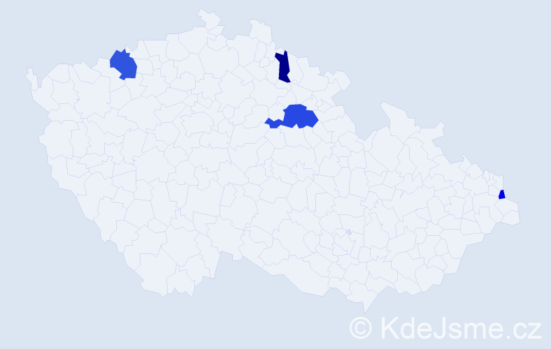 Příjmení: 'Hamad', počet výskytů 7 v celé ČR