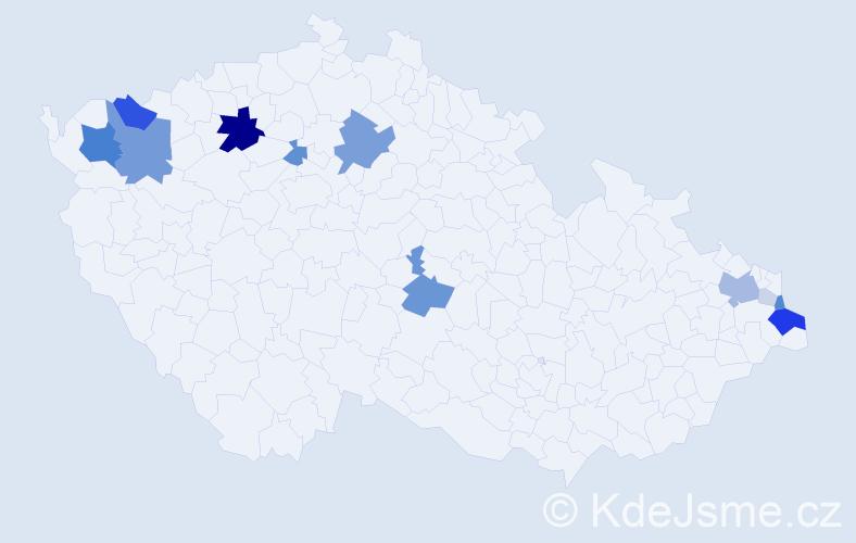 Příjmení: 'Gorová', počet výskytů 43 v celé ČR