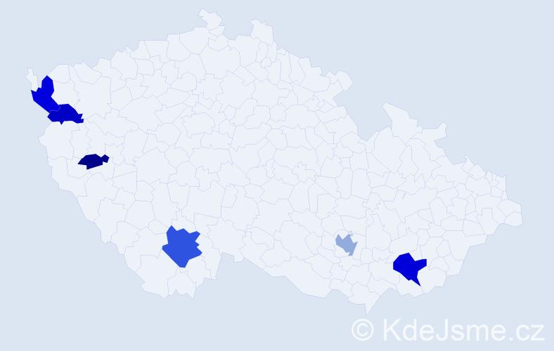 Příjmení: 'Magerstein', počet výskytů 12 v celé ČR