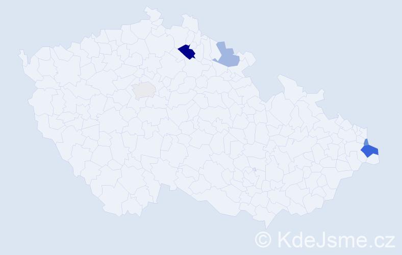 Příjmení: 'Kundrák', počet výskytů 9 v celé ČR
