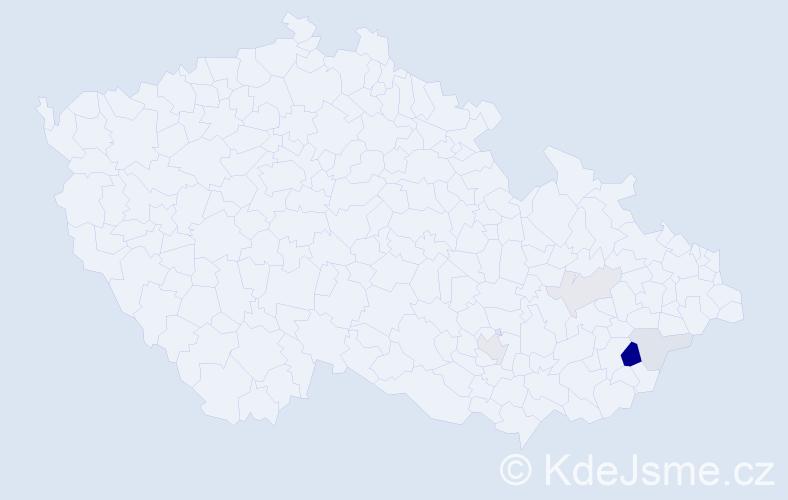 Příjmení: 'Geržičáková', počet výskytů 11 v celé ČR