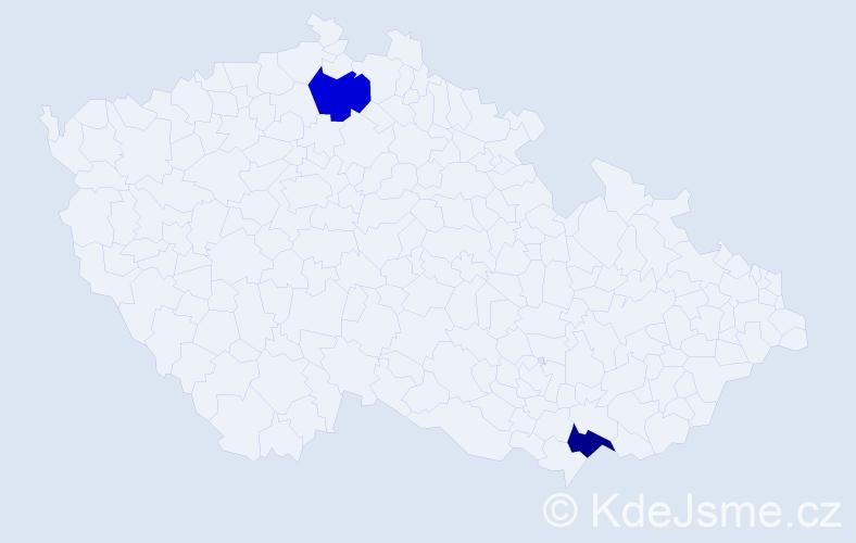 Příjmení: 'Ignáthová', počet výskytů 2 v celé ČR
