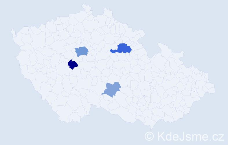 Příjmení: 'Čugová', počet výskytů 16 v celé ČR