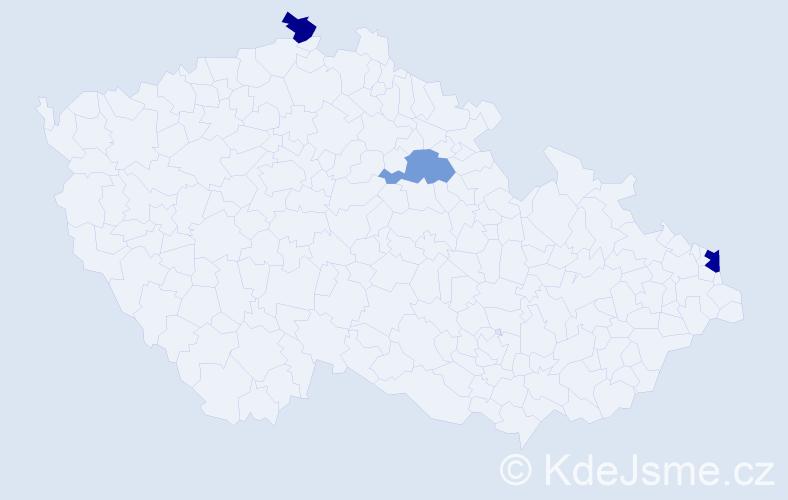 Příjmení: 'Ćwierz', počet výskytů 4 v celé ČR