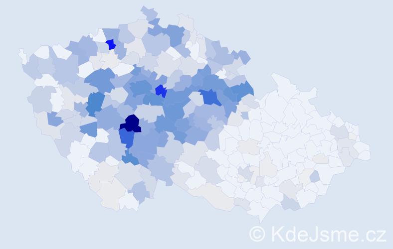 Příjmení: 'Čihák', počet výskytů 1373 v celé ČR