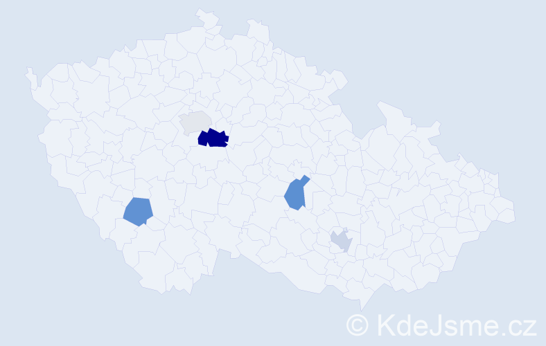 Příjmení: 'Giger', počet výskytů 7 v celé ČR