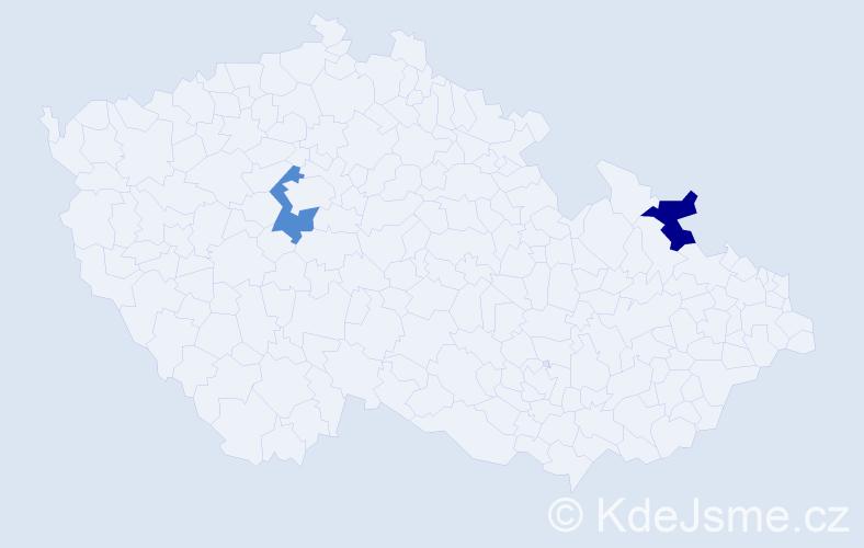 Příjmení: 'Caknakisová', počet výskytů 4 v celé ČR