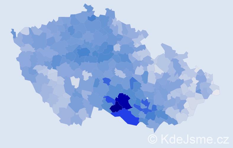 Příjmení: 'Svobodová', počet výskytů 26282 v celé ČR