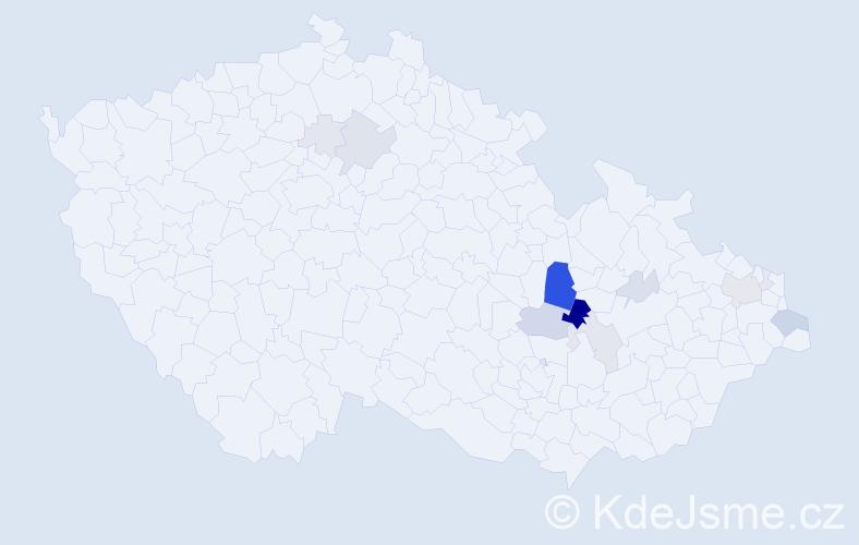Příjmení: 'Kořenovský', počet výskytů 44 v celé ČR