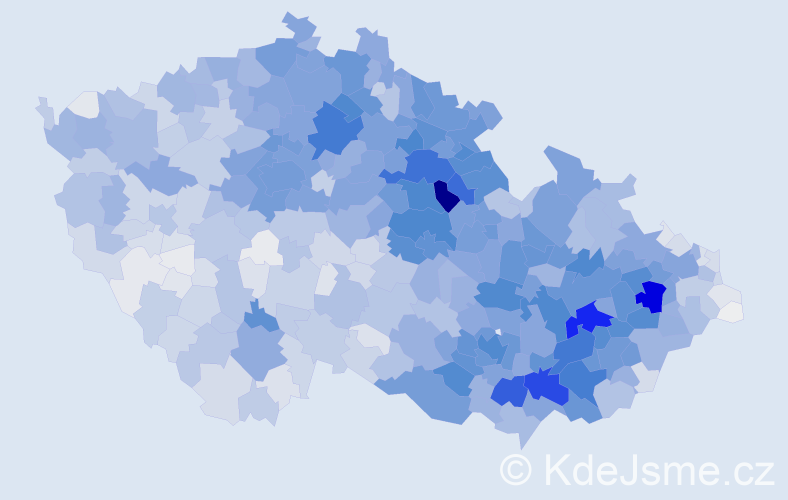 Příjmení: 'Horák', počet výskytů 12168 v celé ČR