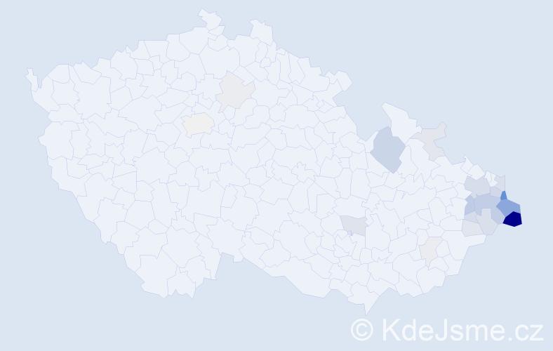 Příjmení: 'Drong', počet výskytů 86 v celé ČR