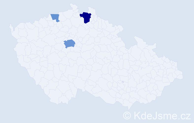 Příjmení: 'Eichl', počet výskytů 11 v celé ČR