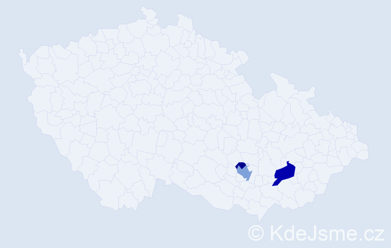 Příjmení: 'Cíha', počet výskytů 7 v celé ČR