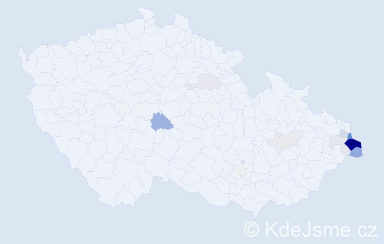 Příjmení: 'Jadamusová', počet výskytů 40 v celé ČR