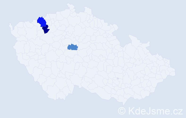 Příjmení: 'Gassauer', počet výskytů 4 v celé ČR