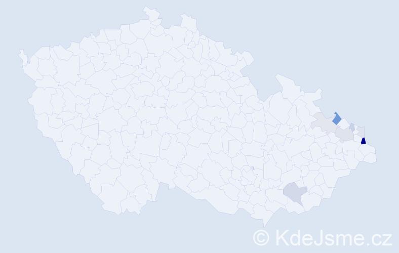 Příjmení: 'Chlebusová', počet výskytů 22 v celé ČR