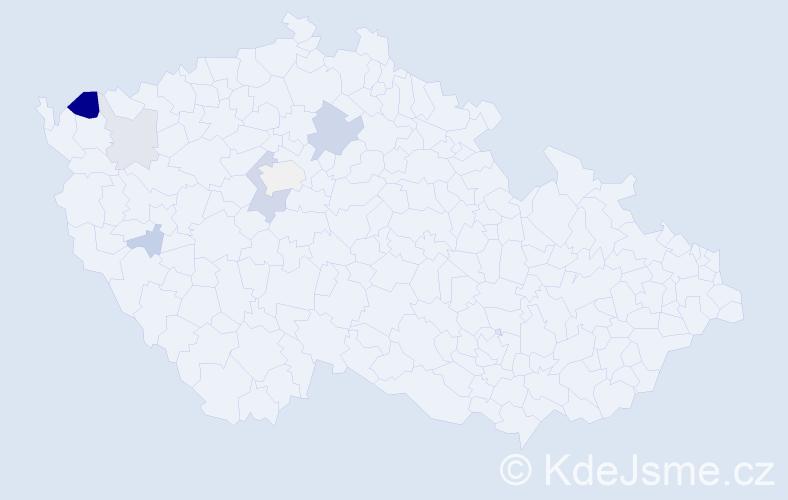 Příjmení: 'Ernstberger', počet výskytů 16 v celé ČR