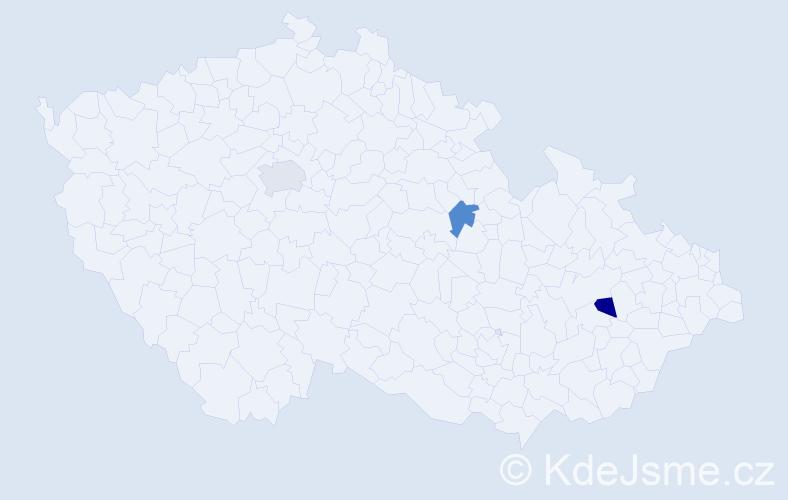 Příjmení: 'Haselmannová', počet výskytů 7 v celé ČR