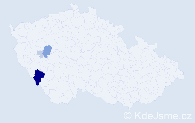 Příjmení: 'Grabműller', počet výskytů 4 v celé ČR