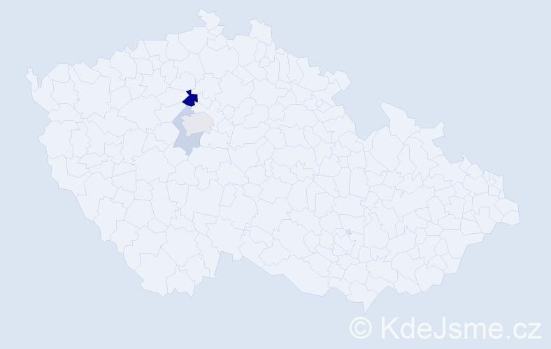 Příjmení: 'Beveláqua', počet výskytů 7 v celé ČR