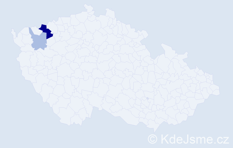 Příjmení: 'Fabók', počet výskytů 10 v celé ČR