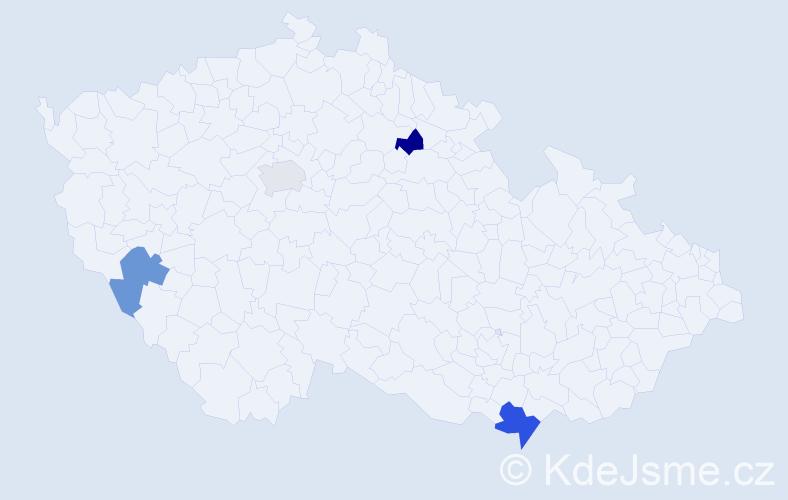 Příjmení: 'Haščík', počet výskytů 5 v celé ČR