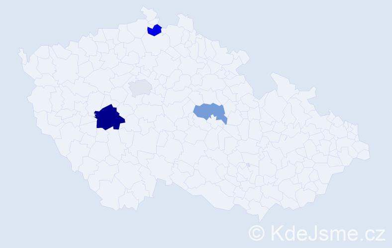 Příjmení: 'Dobák', počet výskytů 6 v celé ČR