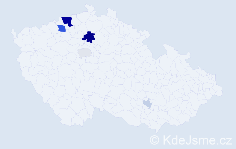 Příjmení: 'Baroková', počet výskytů 10 v celé ČR
