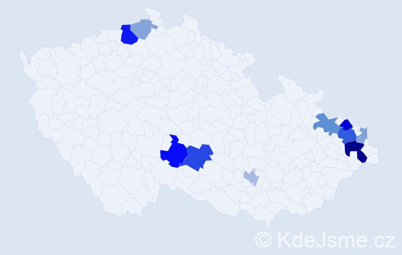 Příjmení: 'Jendrisek', počet výskytů 30 v celé ČR