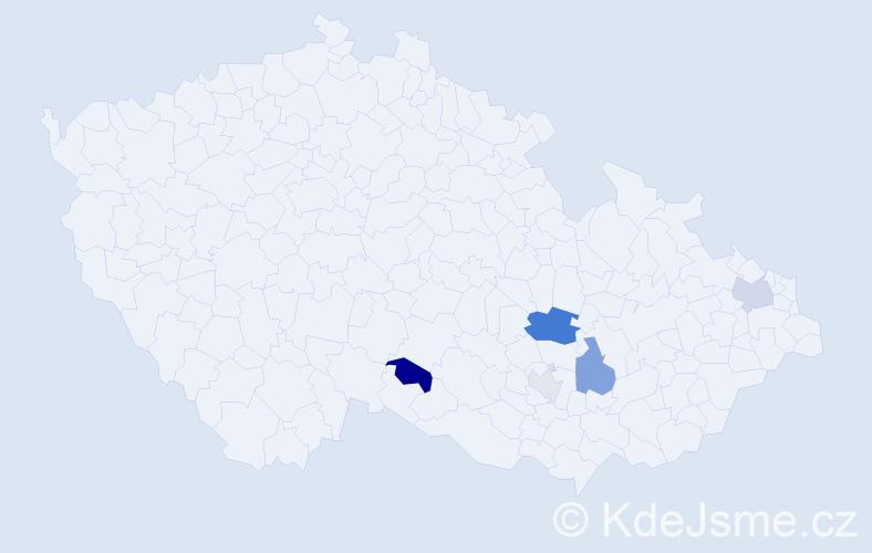 Příjmení: 'Girglová', počet výskytů 11 v celé ČR