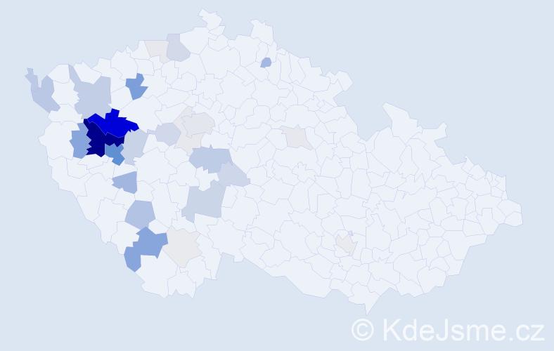 Příjmení: 'Honomichlová', počet výskytů 116 v celé ČR