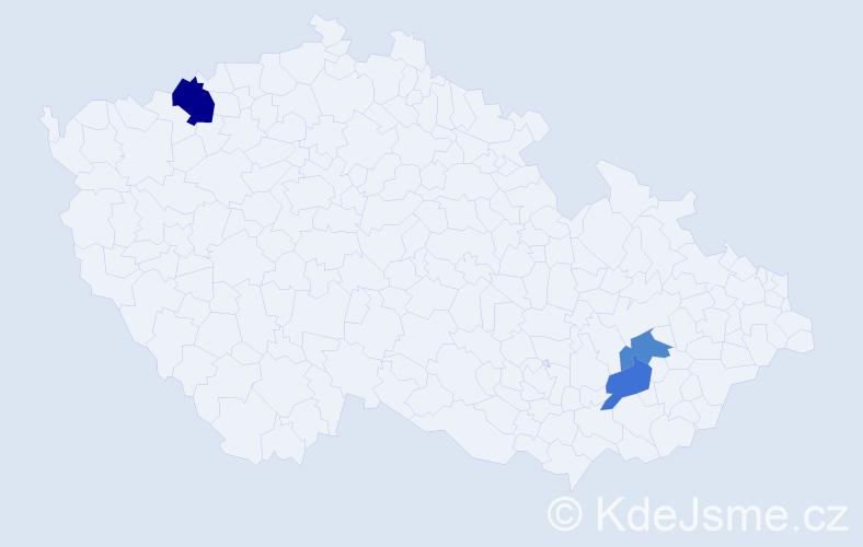 Příjmení: 'Habakuszová', počet výskytů 4 v celé ČR