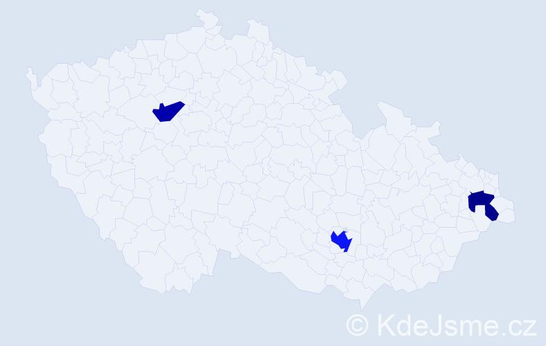 Příjmení: 'Koháry', počet výskytů 4 v celé ČR