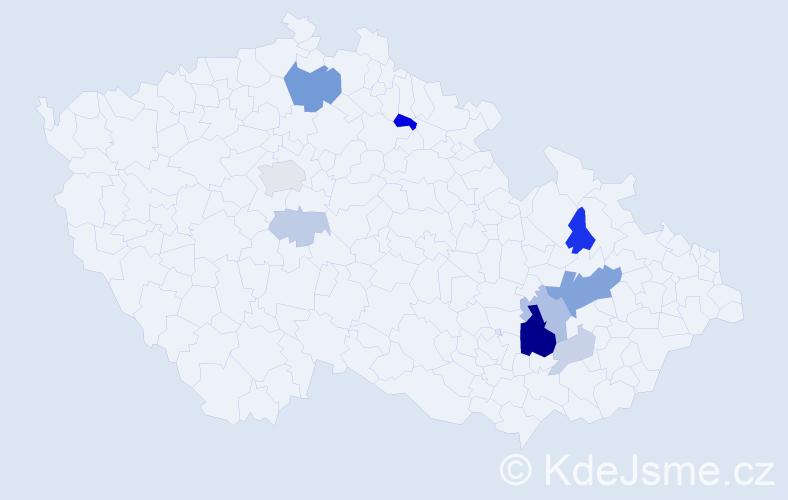 Příjmení: 'Indrych', počet výskytů 29 v celé ČR