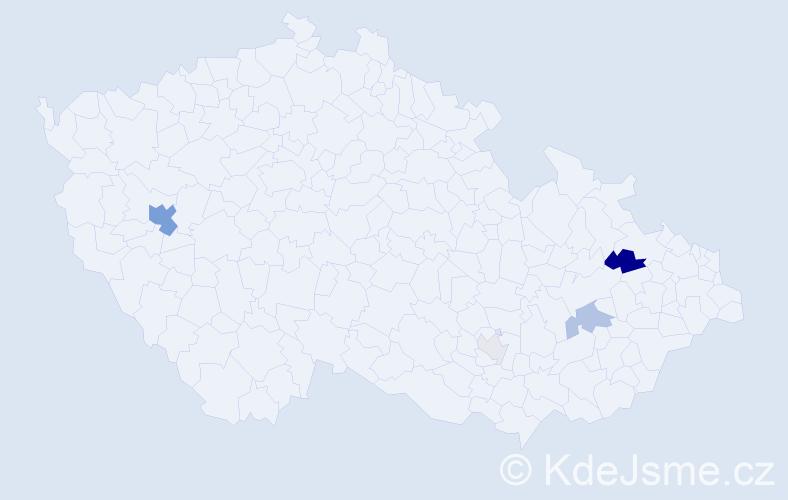 Příjmení: 'Gotthardtová', počet výskytů 14 v celé ČR
