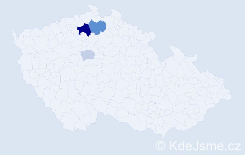 Příjmení: 'Fašianoková', počet výskytů 5 v celé ČR