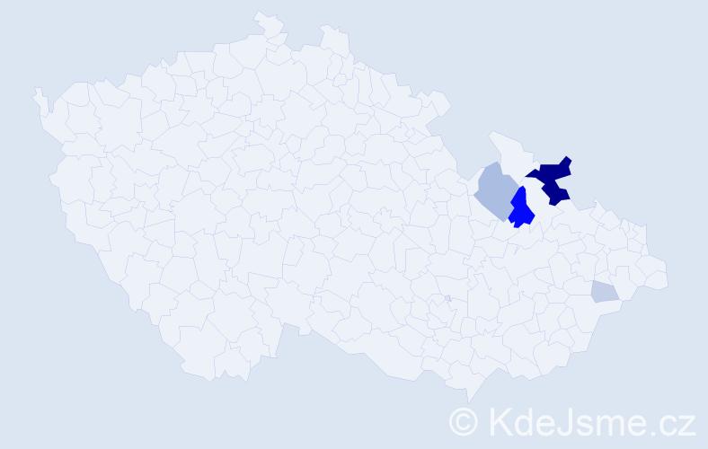 Příjmení: 'Jalamasová', počet výskytů 21 v celé ČR